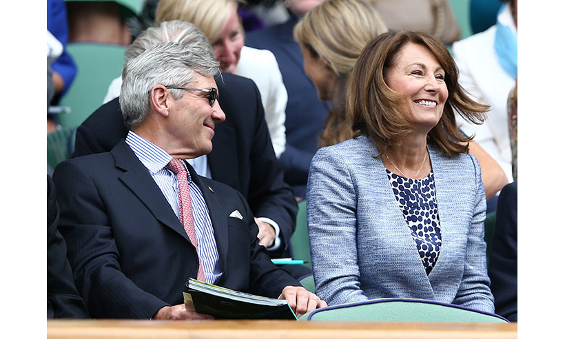 The Duchess of Cambridge's parents Michael and Carole Middleton made their first appearance of the year at the Old England Club on Thursday (Jun. 30). 
