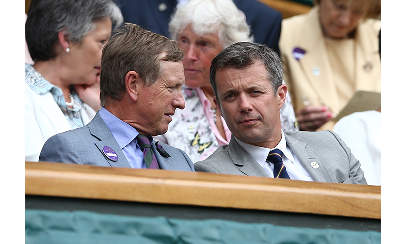 Crown Prince Frederik of Denmark watched all the action from the Royal Box. 