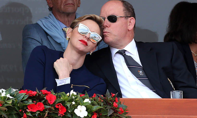 Princess Charlene Prince Albert made a glam appearance at the singles final match between Rafael Nadal of Spain and Gael Monfils of France during day eight of the Monte Carlo Rolex Masters in 2016.