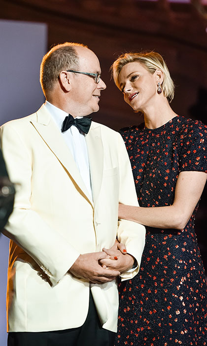 With Christian Dior Couture as presenting sponsor, Princess Charlene was destined to be the belle of the ball at the 2015 Princess Grace Awards Gala - where her hubby couldn't take his eyes off her.