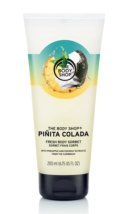 "<p><b>The Body Shop Pinita Colada Body Sorbet, $16 at The Body Shop and <a href=""http://www.thebodyshop.ca"" target=""_blank"">thebodyshop.ca</a></b></p>