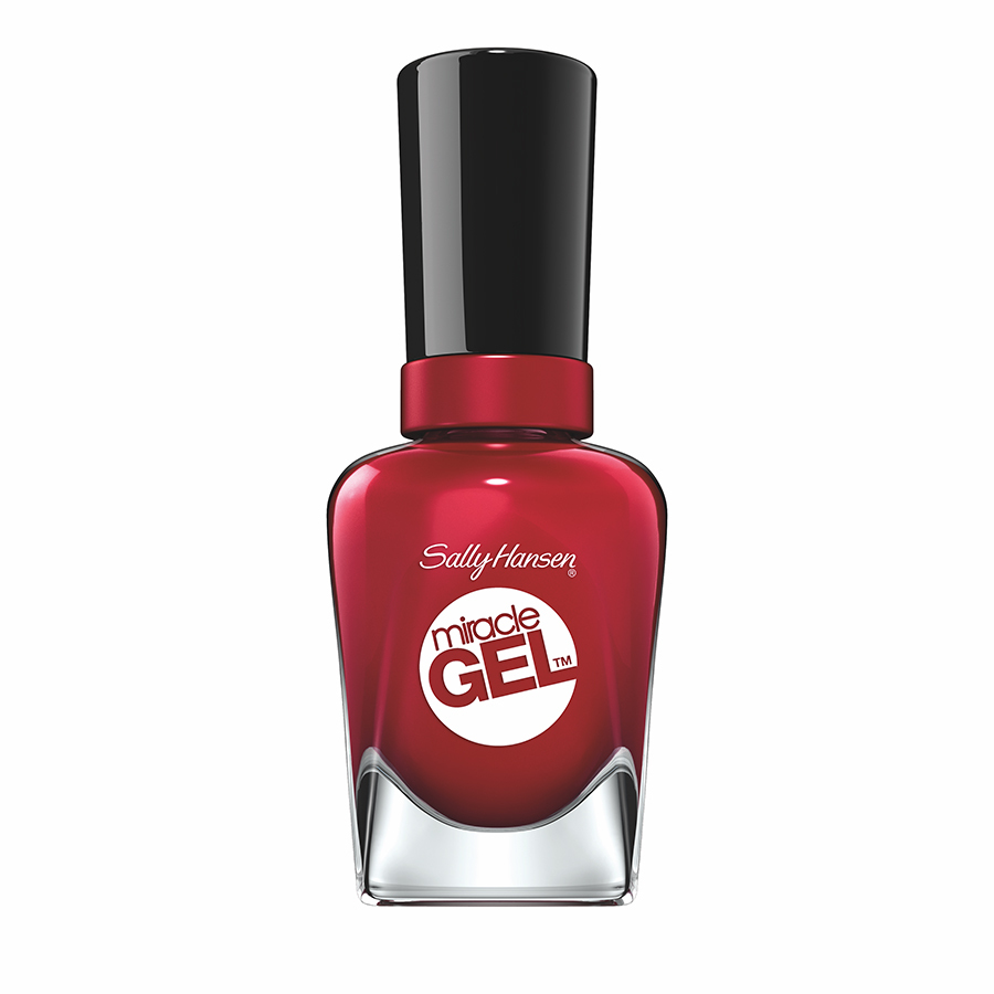 <p><b>Sally Hansen Miracle Gel Can't Beet Royalty, $12, at Drug and mass-retailers</b></p>