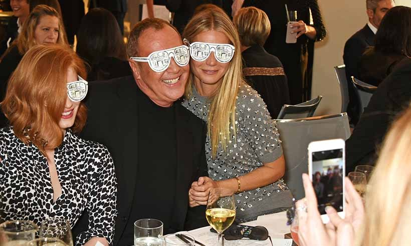 Jessica Chastain, Michael Kors and Gwyneth Paltrow wore their sunglasses inside at a party celebrating the opening of the American designer's new Regent Street flagship store in London. 