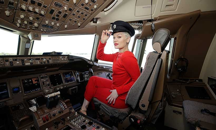 Singer Jessie J performed an exclusive acoustic concert onboard a British Airways 777-300 to celebrate the arrival of summer in the United Kingdom.  