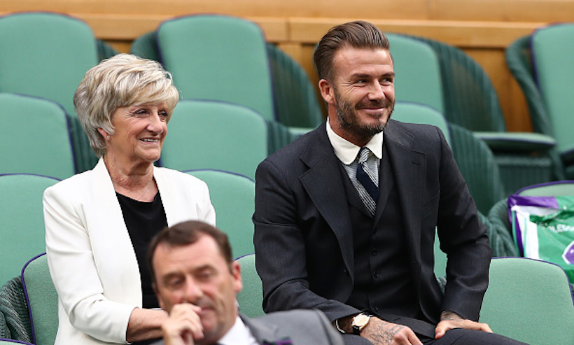 On Saturday (Jul. 2), David Beckham brought his mother Sandra to check out all the action on centre court. 