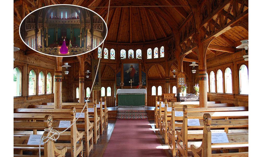 <strong>The Chapel in <em>Frozen</em> was inspired by St. Olaf's Church in Balestrand, Norway.