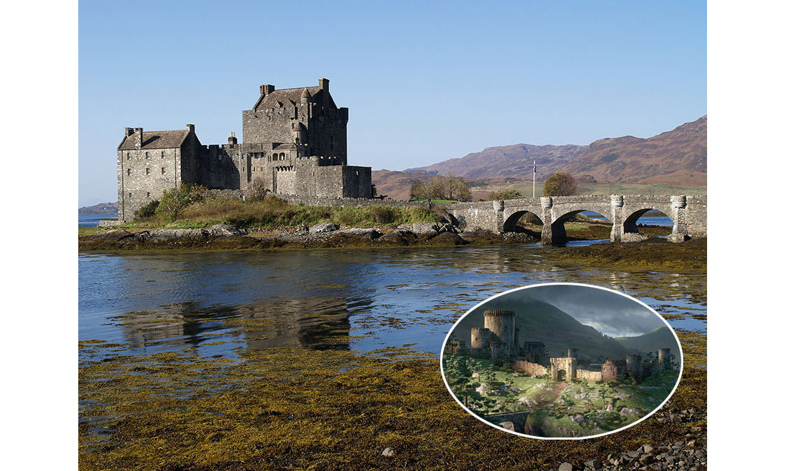 <strong>The Royal Castle in <em>Brave</em> was inspired by Eilean Donan Castle in Kyle of Lochalsh, Scotland.