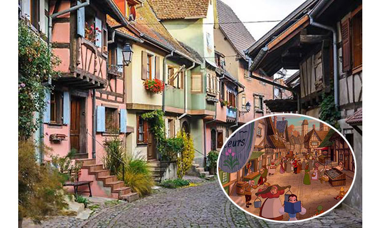 <strong>Belle's hometown in <em>Beauty and The Beast</em> was inspired by Alsace, France.