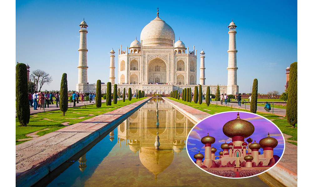 <strong>The Sultan's Palace in <em>Aladdin</em> was inspired by the Taj Mahal in Agra, India.