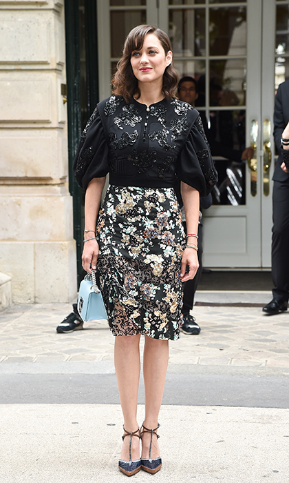 French actress Marion Cotillard exuded Parisian chic at Dior.
