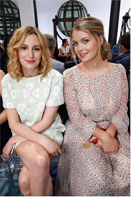 <em>Downton Abbey</em>'s Lady Edith Crawley, a.k.a actress Laura Carmichael, was seated next to real-life aristocrat – and Princess Diana's niece – Lady Kitty Spencer at the Schiaparelli show.