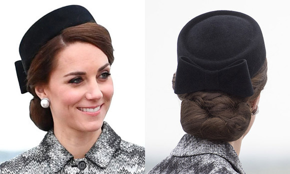 For Battle of Somme centenary commemorations in France, Kate wore a beautiful and sophisticated black pillow box hat with a Missoni coat. 