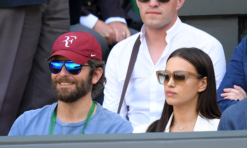 Loved-up couple Bradley Cooper and Irina Shayk were among the star-studded crowd at Wednesday's match between Roger Federer and Marin Čilić. 