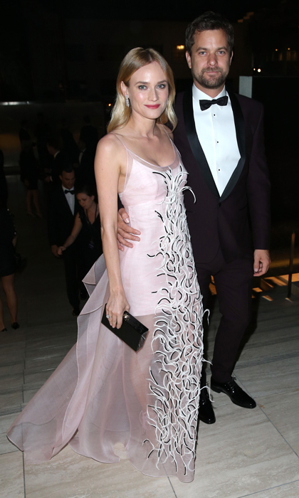 The photogenic pair were black-tie ready as Diane rocked a pretty pink chiffon gown and Joshua a tuxedo at amFar's Inspiration Gala in 2015.  