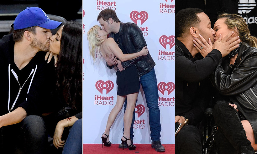 Click through for the sweetest celebrity kisses.