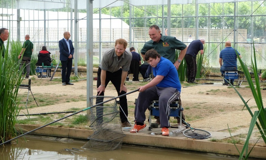 Harry kicked off his day visiting the UK's first indoor angling center at Cast North West.