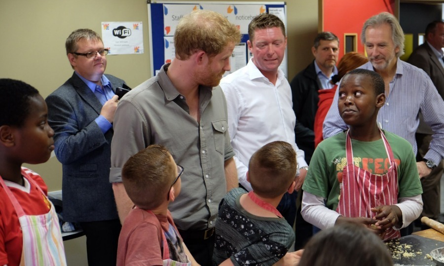 The Wigan Youth Zone, which is a facility that provides a safe and fun environment for children, was the royal's third visit of the day.