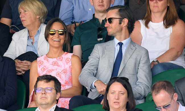 Pippa Middleton and boyfriend James Matthews made their public debut as a couple at the Roger Federer match on Wednesday (Jul. 6). 