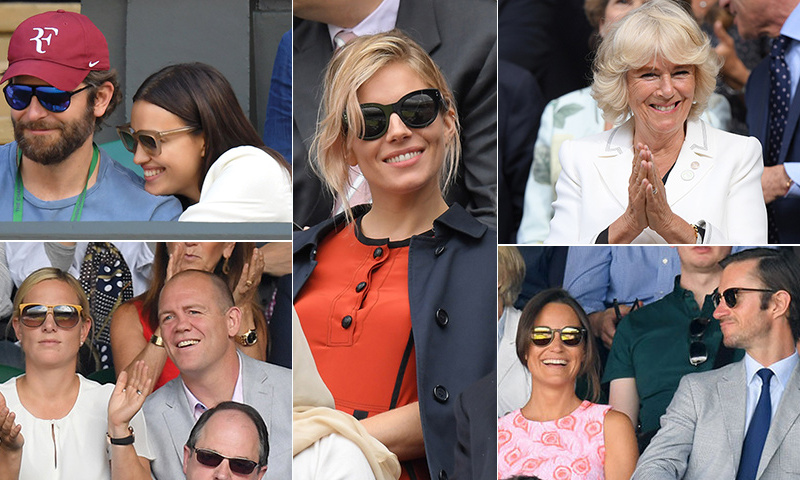 See who sat courtside at the iconic tennis competition in England.