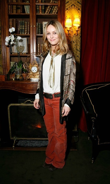 Vanessa Paradis stepped out in a scholarly ensemble for Isabel Marant X mytheresa at the Hotel Particulier Montmartre.