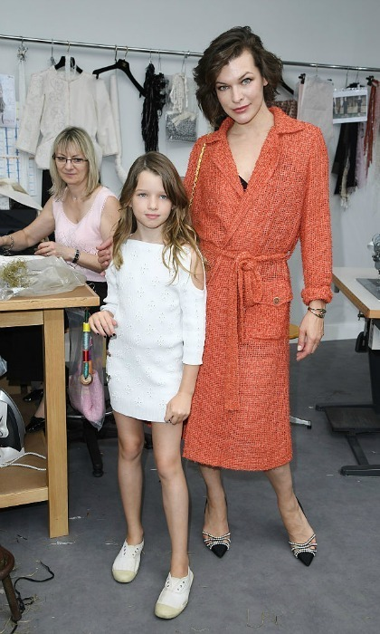 It was a fashionable mother-daughter outing for Milla Jovovich and her little girl Ever Anderson at the Chanel Haute Couture presentation.
