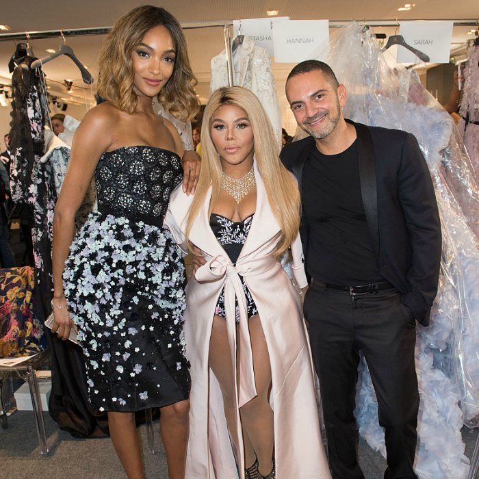 Three's company with this crowd! Model Jourdan Dunn, Lil' Kim and Mohieb Dahabieh came together for a group photo backstage at Ralph & Russo.