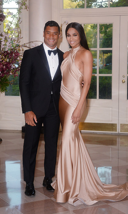 Ciara and Russell Wilson enjoyed their rehearsal dinner on Tuesday. 