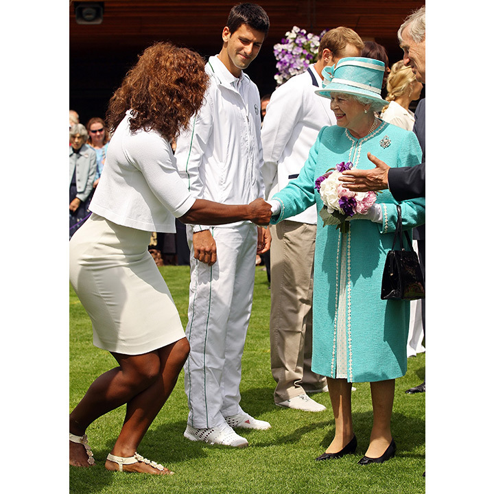 Serena met the Queen at Wimbledon in 2010. 