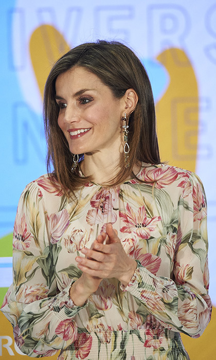 Queen Letizia wore a $85 Zara dress.