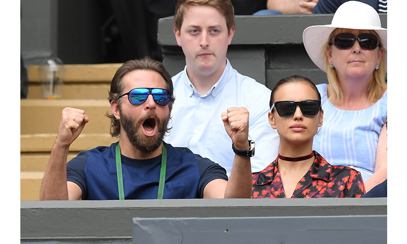 Bradley Cooper and girlfriend Irina Shayk returned to Wimbledon on Friday (Jul. 8) to cheer on Roger Federer. 