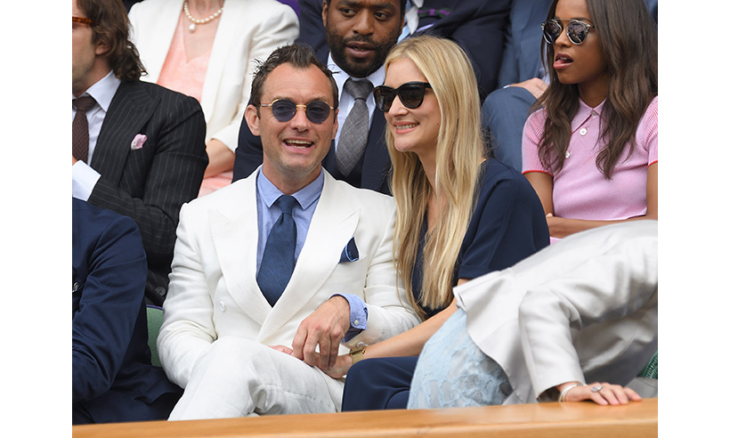 Jude Law and girlfriend Phillipa Coan. 