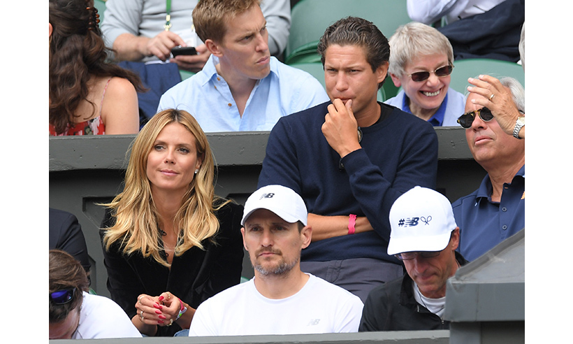 Heidi Klum watched the Milos Raonic vs. Roger Federer match with boyfriend Vito Schnabel.