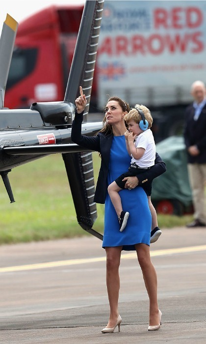 "While touring the base with his mom, George asked Kate, ""Mummy, can I fly the Red Arrow now?""