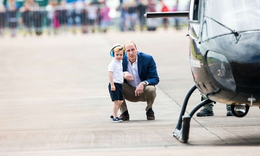 It was one aircraft after another for little George. Back in 2015, the Duchess of Cambridge revealed that her son was showing a deep interest in helicopters.