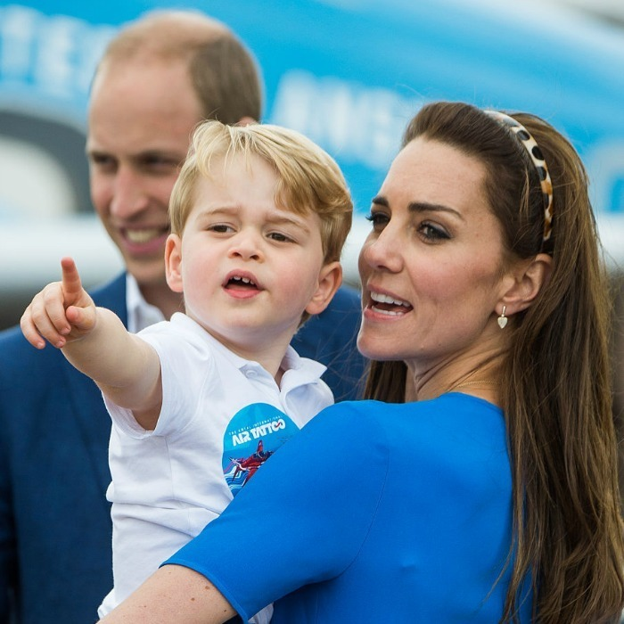 It's a bird, it's a plane! The royal tot excitedly pointed out aircrafts to his mom.