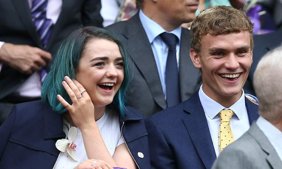 Taking advantage of the break from shooting Game of Thrones, Maisie Williams enjoyed a day out with Will Dale at the tennis competition to watch the Women's Final.