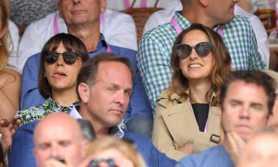 <em>Black Swan</em> actress Natalie Portman joined Rashida Jones to watch the nail-biting Women's Final.