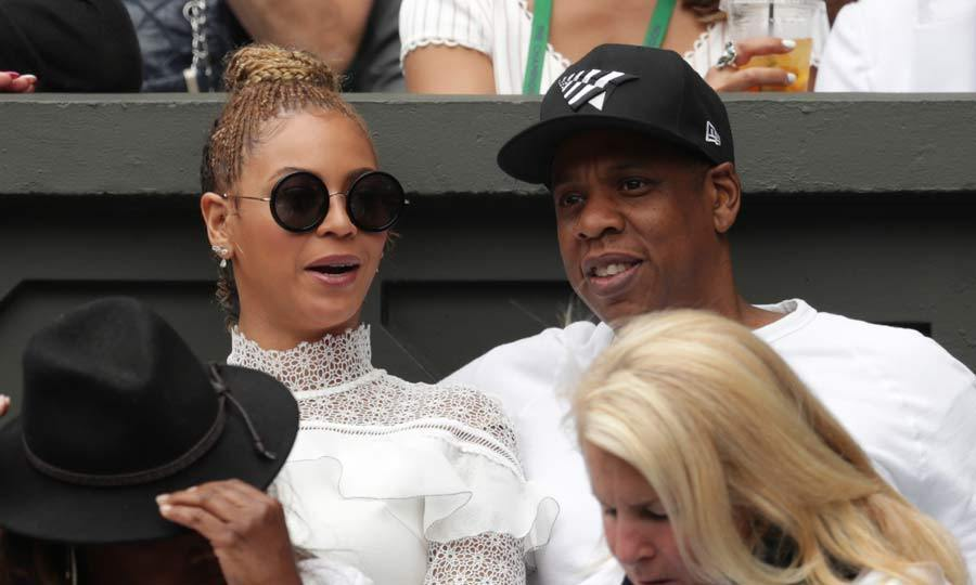 Bringing glamour to the tennis courts, Beyoncé's white ruffled dress was on point as she watched friend Serena Williams win her 22nd Glam Slam title. Husband Jay Z was also on hand to cheer on the tennis star.