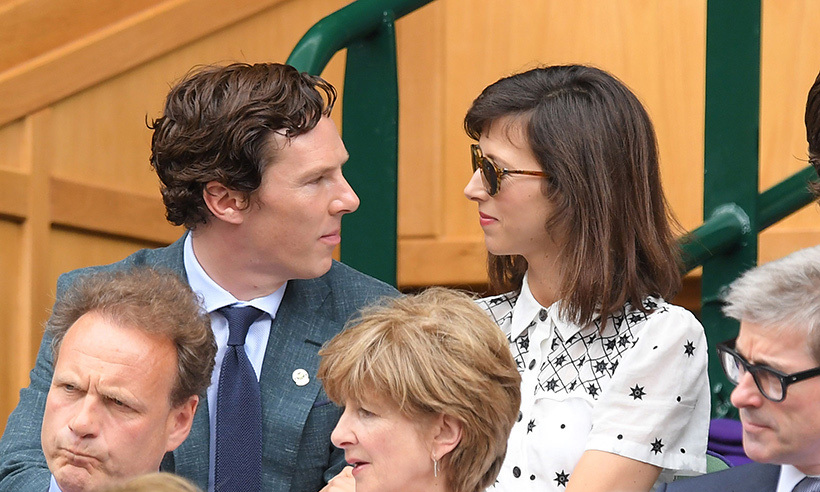 <h3>Benedict Cumberbatch and Sophie Hunter</h3>