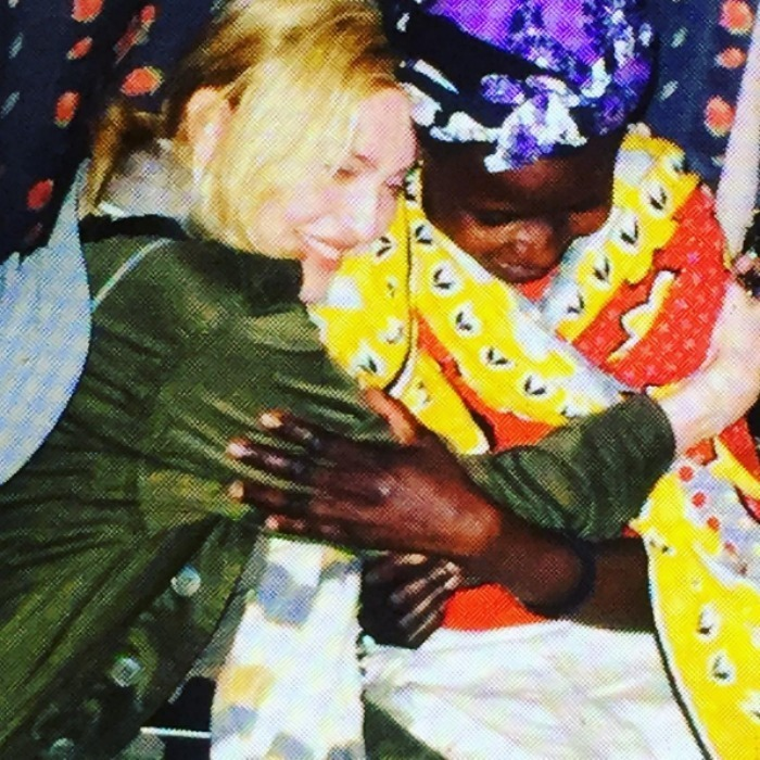 Madonna paid a visit to a lady named Sofie, who is raising her 14 children in Kibera after her husband was killed in war. 