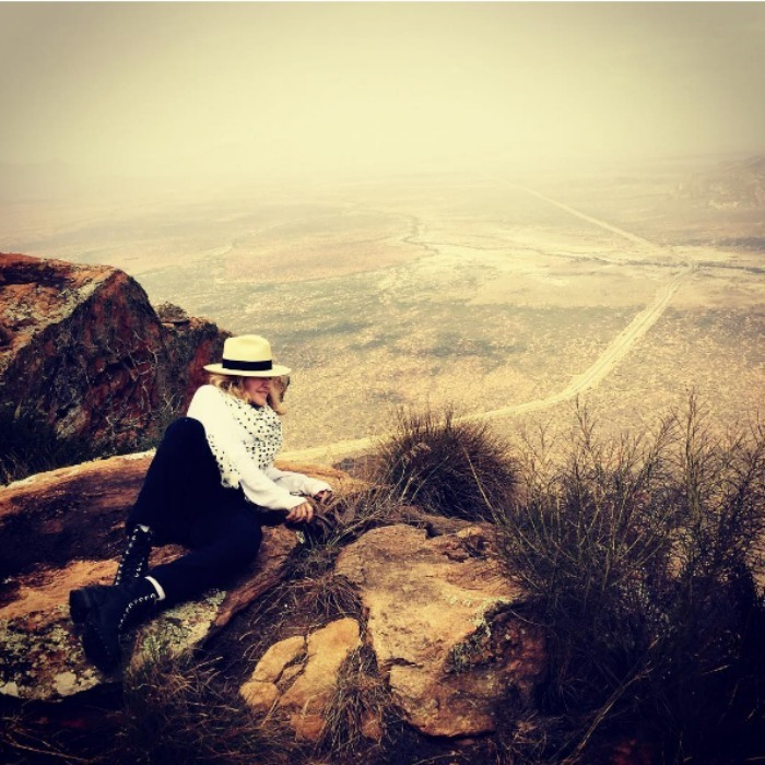 "The pop star captioned this image: ""I'll take the Road Less Travelled by! Oh Africa!""