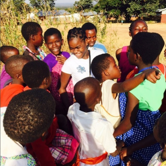 Mercy took the time to make some new friends at the Home of Hope orphanage in Michinji.