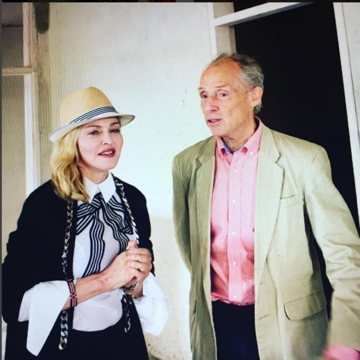 Madonna took the time to speak with one of her heroes, Dr. Eric Borgstein, in the new pediatric hospital in Blantyre, which she hopes will be open in 2017. The hospital will specialise in surgery and intensive care. 