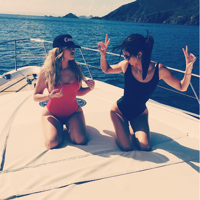 Khloe Kardashian and Kendall Jenner