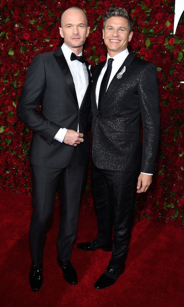 Neil Patrick Harris and David Burtka at the 2016 Tony Awards. 