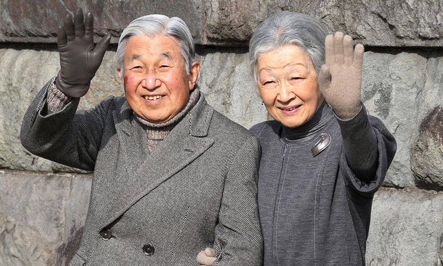 The Emperor and his wife Empress Michiko.