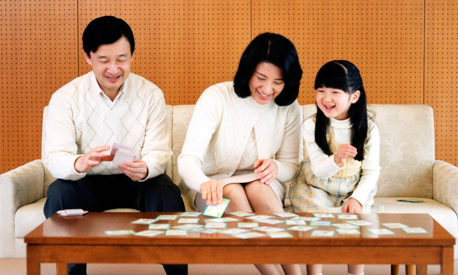 Family game night! Prince Naruhito celebrated his 47th birthday with his two favorite girls, playing cards at their Togu residence.