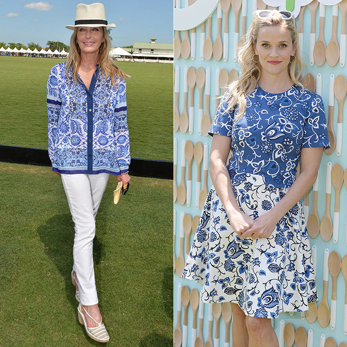 The classic paisley pattern makes for the perfect garden-party look on celebs like Bo Derek (left) and Reese Witherspoon (right).