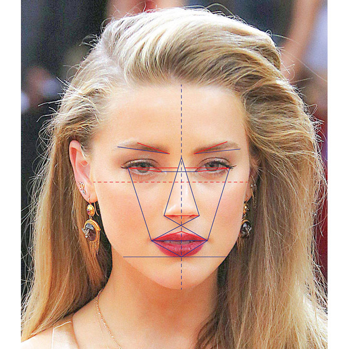 Amber Heard has the world's most beautiful face according to new face mapping research.