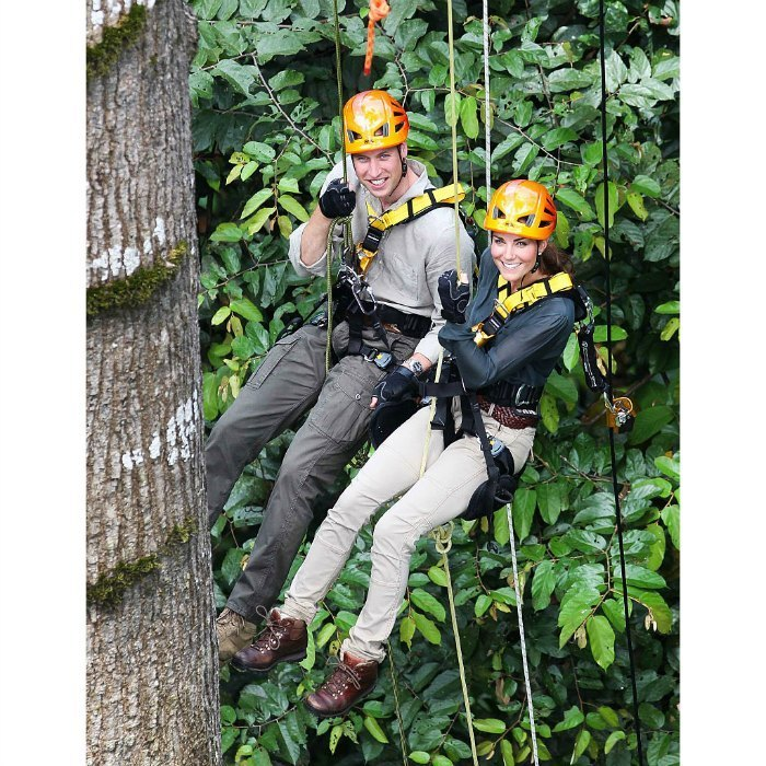 <p>Kate had a go at abseiling with Prince William through the rainforest on the island of Borneo back in 2012 during their Jubilee Tour of the Far East and South Pacific.